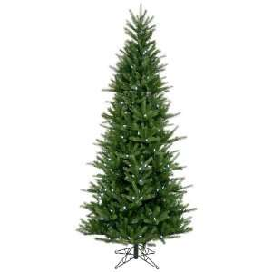 12 Pre lit Tiffany Spruce Slim Christmas Tree   White LED