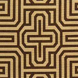 Indoor/ Outdoor Matrix Natural/ Brown Rug (67 x 96)