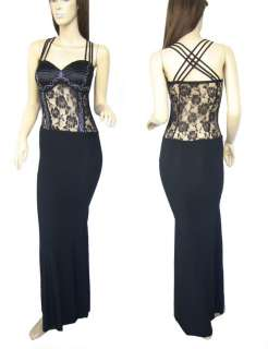 Celebration&Evening Party Black Long Gown Dress 21689