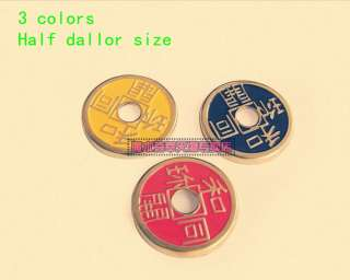 Chinese Coin/Half Dollar Size//close up magic/3 colors