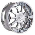 22 INCH RIMS TIRE PKG CHROME 5X114 3 5X115 5X120 V820