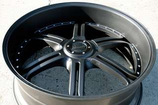 GIANELLE MALLORCA 26 MATTE BLACK RIMS WHEELS CHRYSLER 300 300C V6 V8