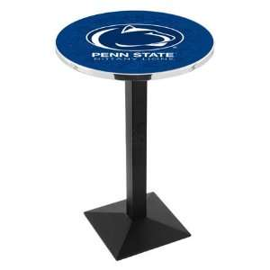 42 Penn State Bar Height Pub Table   Square Base Sports