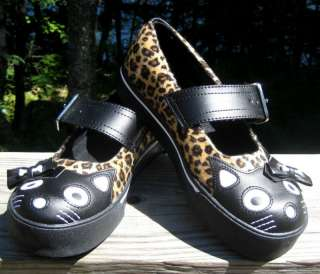 TUK Womans LEOPARD Print KITTY Bow MARY JANE Sneakers