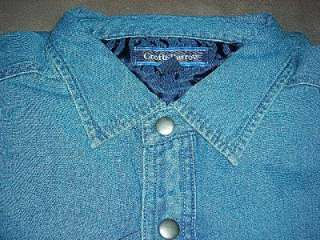 Croft & Barrow Blue Denim / Quilt Shirt Jacket~Mens LT and XLT~$70~NWT
