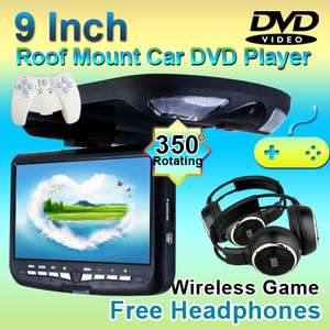 For Sale HD 9 Roof Mount Car Stereo DVD Player Games Radio IR+One