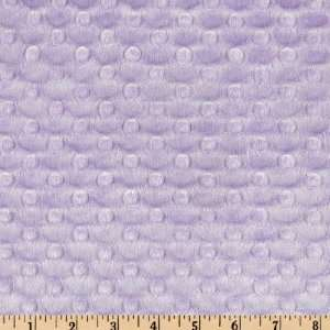 60 Wide Minky Dimple Dot Lavender Fabric By The Yard