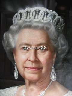 Original Oil painting portraits artQueen Elizabeth