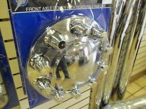 Chrome Front Axle Cover Semi Truck Tow Wrecker Wheel