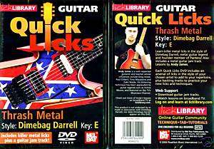 DIMEBAG DARRELL, THRASH METAL, GUITAR LICKS   NEW DVD