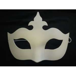 Undecorated Blank White Venetian Mask  Toys & Games