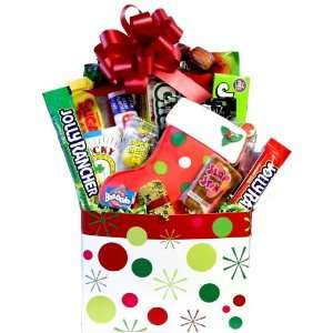Polka Dots Stocking Retro Candy Gift Grocery & Gourmet Food