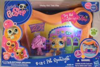 Littlest Pet Shop LPS 2 in 1 Spotlight Hasbro Playset Figures Vet
