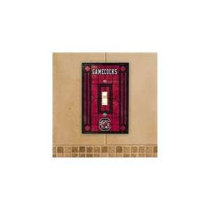 South Carolina Gamecocks Art Glass Switch Cover Sports