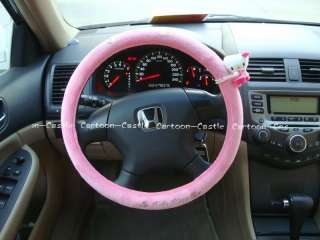 Hello Kitty Auto Car Plush Steering Wheel Cover Pink