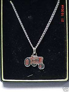 IH International Harvester tractor necklace, NIB