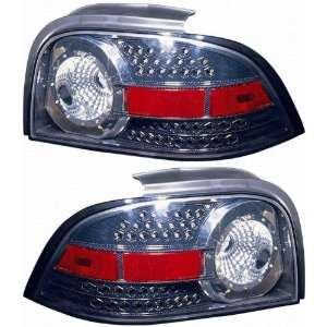 1996 1998 Ford Mustang Tail Lights (LED Carbon Fabric) 1 Pair(Driver