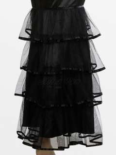 NWT Elegant Pleated Black Tiered Lace Hem Strapless Prom Gowns 09346