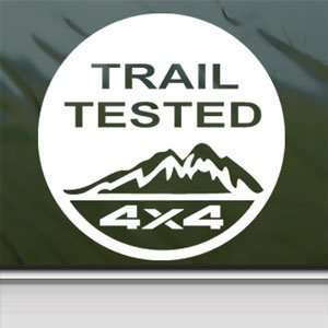Trail Tested Off Road 4x4 White Sticker Laptop Vinyl