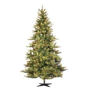 7.5 Pre Lit Slim Mixed Country Fir Christmas Tree   Clear