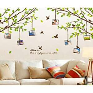 Wall Decor Removable Decal Sticker   Green Tree Branches with Flying