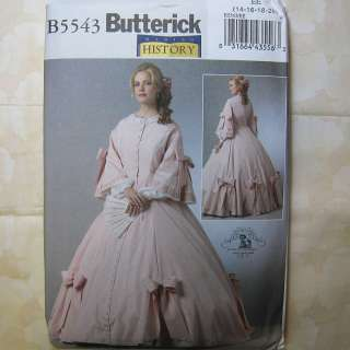 5543 Civil War Era Gown Costume Pattern 14 20 031664435563