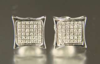 MENS/LADIES XL WHITE DIAMOND STUDS 9 MM EARRINGS KITE