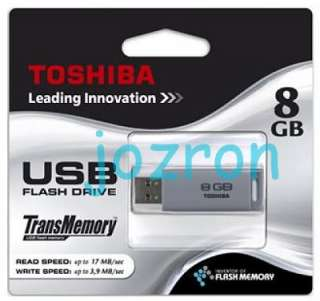 Toshiba ASAGIRI U2P 8GB 8G USB 2.0 Flash Pen Drive Stick Disk
