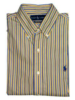Polo Ralph Lauren Mens Dress Shirts, Various Colors and Sizes
