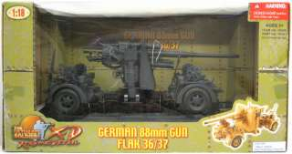 Ultimate Soldier XD 1/18 Scale WWII German Grey 88mm Flak 36/37 Gun