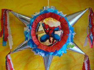 Pinata Spider Man Party Holds Candy Star Shape
