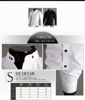 Stylish Casual Dress Slim Fit Shirts White,Black and 4 size