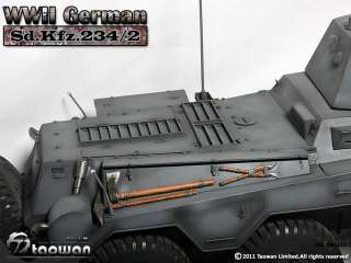 TaoWan Full Metal WWII German Sd.Kfz. 234/2   Grey Ver.