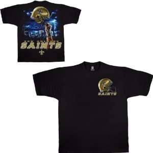 Liquid Blue New Orleans Saints Sky Helmet T Shirt Sports