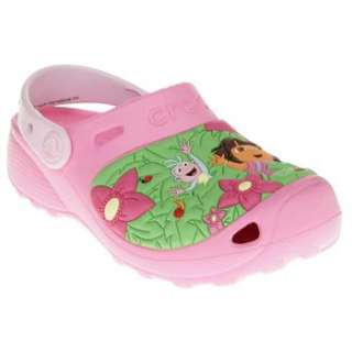 Girls Crocs Dora And Boots Jungle Pink Sandals