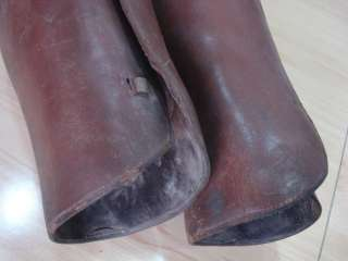 WWI ORIGINAL GERMAN KAISER ARMY LEATHER CALF GAITERS