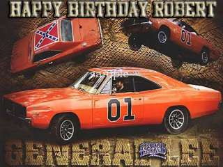 DUKES of HAZZARD Edible CAKE Image Topper Icing Sheet