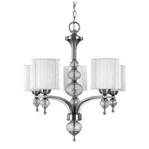World Imports Bayonne Collection 5 Light Brushed Nickel Chandelier