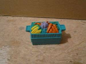 Little People Food crate box blue animals Noahs ark zoo farm barn