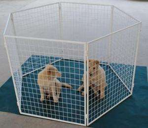 Heavy Duty 31 Pet Dog Exercise Play Pen Strong Metal with Power Coat