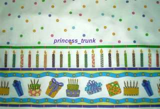 Gorgeous Happy Birthday Candles/Presents Border Dress