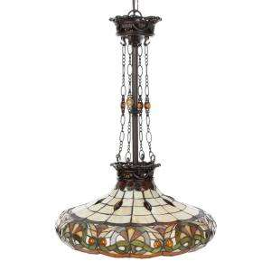 Springdale Lighting Tiffany Melissa 3 Light Hanging Antique Bronze