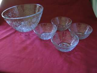 PRINCESS HOUSE FANTASIA1 LARGE SALAD BOWL & 4 SMALL