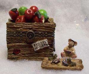 BOYDS TREASURE BOX, CANDICES APPLE CRATE/ DOC MCNIBBLE 1E/8