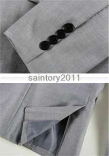 Stylish Mens Slim Fit Casual One Button Suit Blazers Coat