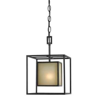World Imports Hilden Collection 1 Light Hanging Aged Bronze Pendant