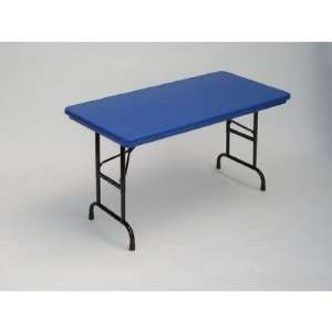 Color Plastic Folding Table with Adjustable Legs