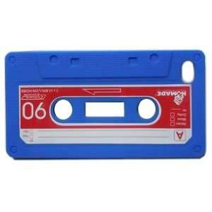 Blue Cassette Tape Style Design Soft Silicone Skin Gel Cover Case