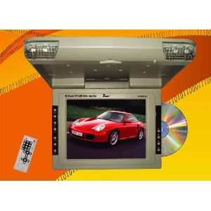 Black Roof Mount Car Monitor with Built in Dvd, Cd, , Divx Player