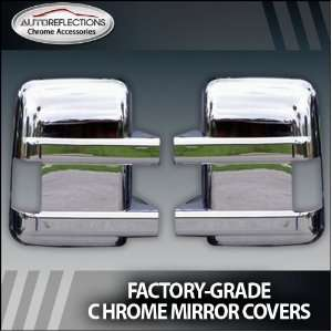 Duty Chrome Mirror Covers (Towing Mirror with Turn Signal) Automotive